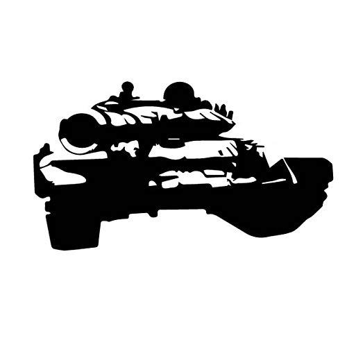 WBXZY 15,5 CM * 8,7 CM Deslumbrante Carro de Guerra Tanque excelente Vinilo calcomanía Coche Pegatina CoolBlack / SilverC27-1227-Negro