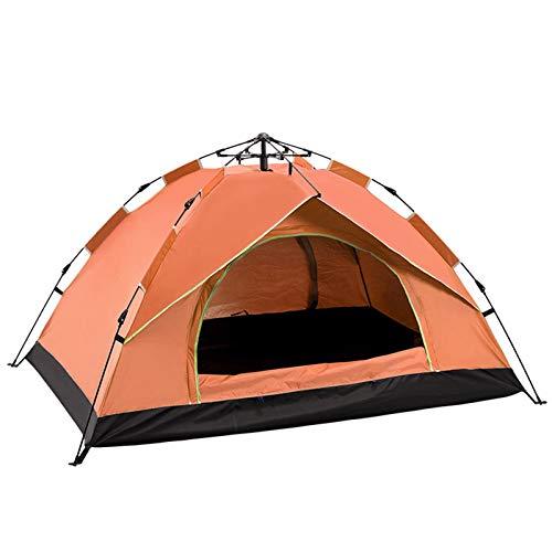 GXSB Tienda de campaña 3-4 personas Pop Up tiendas instantáneas para acampar, set familiar impermeable, senderismo al aire libre Mochilero Refugio (azul) naranja-1-2 personas