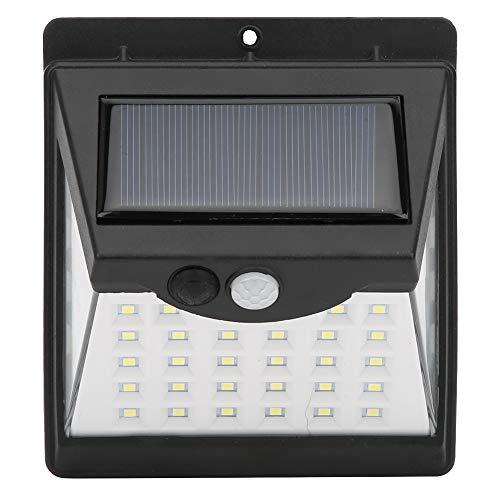 Boquite Intelligente Solarsensor-Wandleuchte, 40LED-Wandleuchte, drahtlos solarbetrieben für die Garten-Haustür im Freien