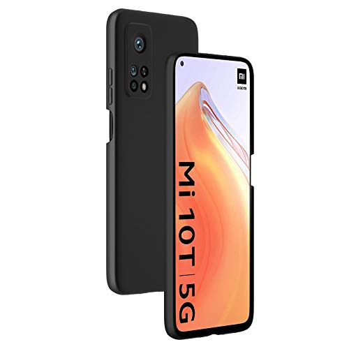 cookaR Hart Hülle für Xiaomi Mi 10T/10T Pro 5G, Ultra-Dünn Schlank Matt Handyhülle,Einfache Stoßfeste Kratzfeste Ganzkörper Hülle Cover Schutzhülle für Mi 10T 5G/Mi 10T Pro1 Smartphone,Schwarz
