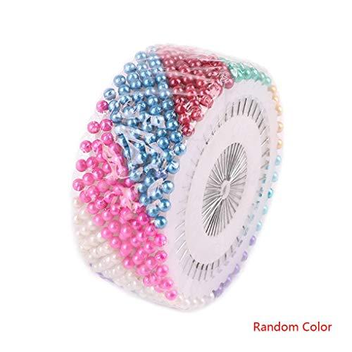 Lorsoul 40Pcs DIY Haushalt Kunststoff-Perlen Nadel Set Nähen Perlen Pin Manuelle Positionierung Nadel Farbige Bead Kit