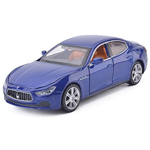 01:32 Escala Ghibli tira del coche-modelo de juguete de aleación de coche fundido a troquel con el sonido de metal ligero Simulación Colección decoración de coches de juguete fino regalo del arte dura