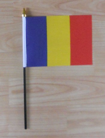 Rumänien Flagge Fahne, Klein, Country Hand.