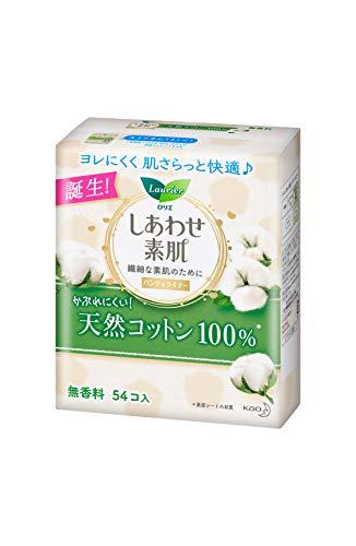 花王 ライナー 14cm ロリエ しあわせ素肌 パンティライナー 天然コットン100% 1セット(54枚×6個) 花王