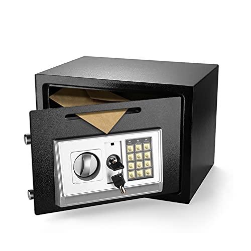 Flexzion Coffre-fort électronique numérique avec une fente de dépôt-Bouton numérique, serrure de sûreté pour les documents, d'argent, bureau, domicile