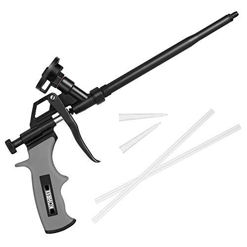 Kohree - Pistola de espuma de poliuretano profesional para construcción, incluye accesorios, color negro