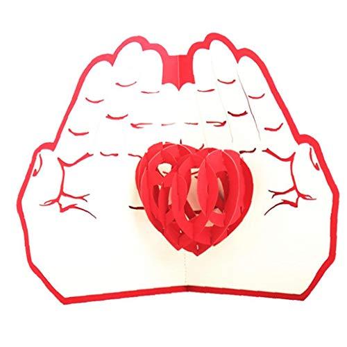 lulongyansf Invitación de Boda del Amor 3D de Pop-Tarjetas del día de San Valentín Postal Tarjetas de Regalo Tarjetas de Regalos de cumpleaños Casa y Jardín