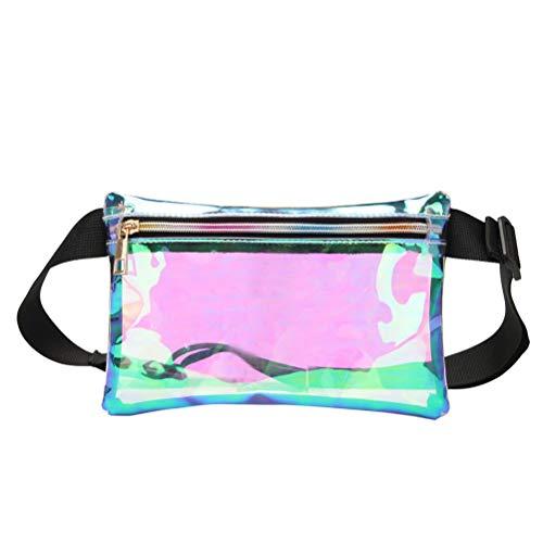 TENDYCOCO 1 stück Tasche Transparent Strandtasche Umhängetasche TPU Lucency Tasche Mode Gürteltasche für Mann (Laser Lucency)