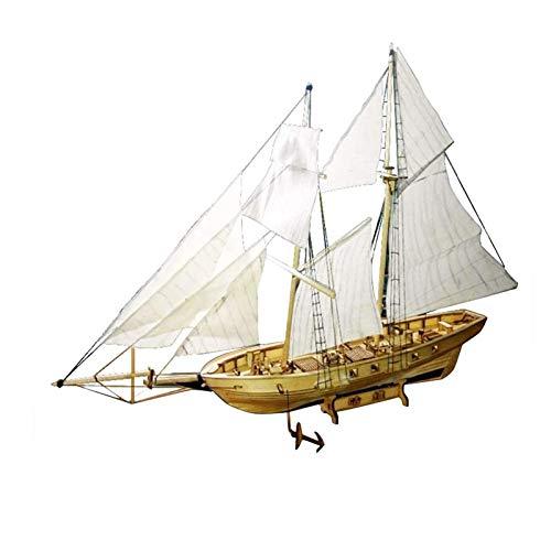 GQQG Holz Segelboot Schiff Kit - 3D Schiff Puzzles Schiff Modellbau Set, Schiffe und U-Boote Dekoration DIY Schiffsmontage Modell Kits, Geschenk für Erwachsene und Kinder