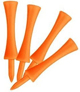 VORCOOL 70mm Large Castle Golf Tees - 100pcs (Orange)
