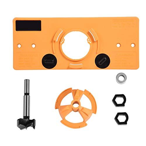 Trapano a cerniera, Fydun set di punte da 35 mm per punte per fori per cerniera a scomparsa per installazione su porta dell'armadio