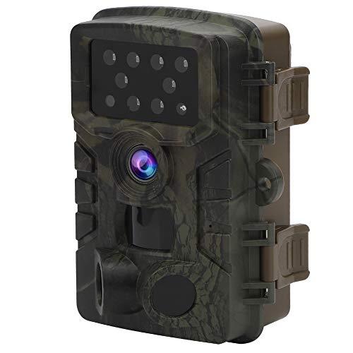 NITRIP Scouting-Kamera, Trail-Kamera, Outdoor-Videokamera Tragbare 8-LED-Leuchte für Home Security Wildlife Monitoring Garden Office