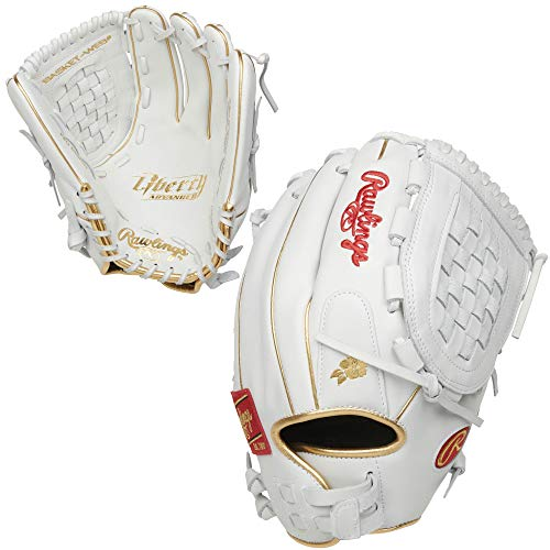 Rawlings Liberty Advanced Fastpitch Softball Glove, Basket Web, 12.5 inch, Right Hand Throw (RLA125KRG-3/0)
