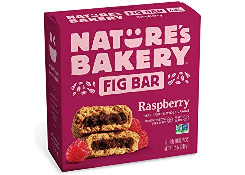 Nature's Bakery Raspberry Real Fruit, Whole Grain Fig Bar - 6 Bars. (12 oz.)