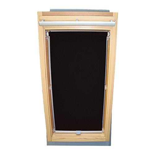 Easy-Shadow Dachfenster Sichtschutzrollo Basis Rollo für Typ Fakro FT/FTP/PK/FK/FE/FL/PTP Größe 11 – 114/140 (Glasmaß 98,0 x 123,3 cm) - in der Farbe schwarz