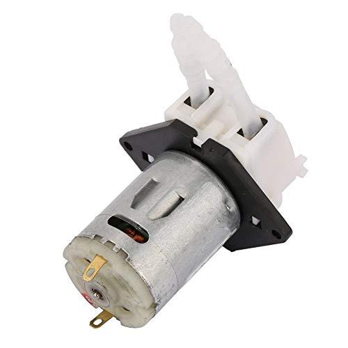 Schlauchpumpe, 12V Dosierpumpe DIY Schlauchkopf für Aquariumlabor Chemische Analyse Silikonschlauch: 3 * 5 Durchflussbereich: 10ml/min-90ml/min(Weiß)