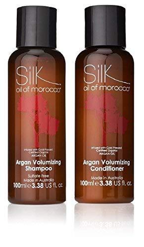 Seta Olio di Argan Marocchino Shampoo Volumizzante 100ml e Volumizzante Balsamo 100ml - Viaggio Taglia,