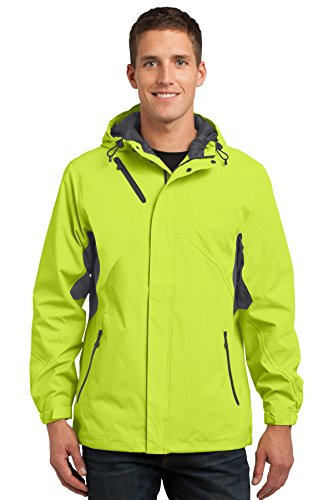 Port Authority Men's Cascade Waterproof Jacket XXL Charge Green/Magnet Grey