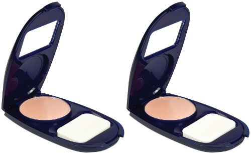 Covergirl Smoothers Aquasmooth Compact Foundation, Natural Ivory 715, 0.4-ounce, 2 Ea