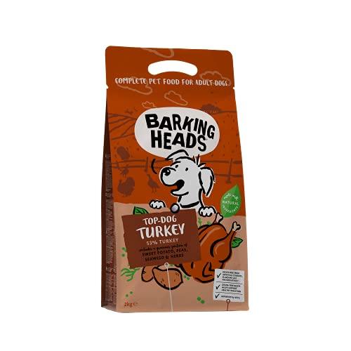 バーキングヘッズ グレインフリー トップ ドッグ ターキー 全犬種成犬用 (2kg)