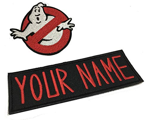 Set of Custom Personalized Ghostbusters Name Tag No Ghost Patch Iron on Bundle Halloween Costume