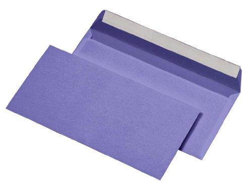 100 Mailmedia® Briefumschläge Din lang lila haftklebend