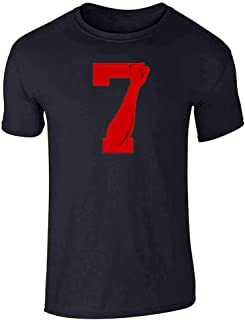 Power 7 Logo Red for Justice Fist Graphic Tee T-Shirt for Men