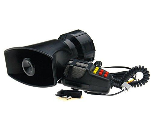 Sistema de bocina potente para vehículos, 12 V, 7 tonos, sistema PA, con micrófono, 115 dB, para coche, barco, caravana o camión