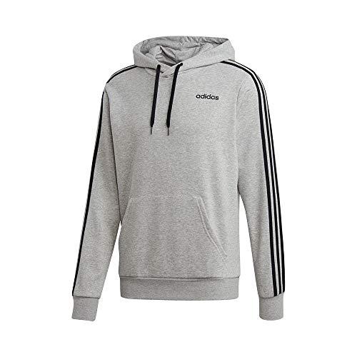 adidas Herren E 3S PO FT Sweatshirt, medium Grey Heather/Black, 2XL