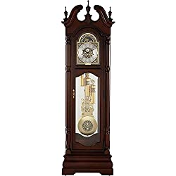 Howard Miller Edinburg Grandfather Clock 611-142 – Cherry Bordeaux with Triple-Chime Movement
