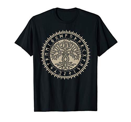 Wikinger Rune Odin Asgard Thor Walhala Vegvisir T-shirt