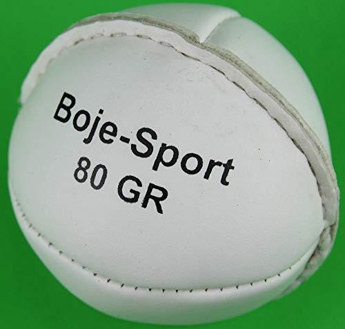 Boje Sport Schlagball aus Leder 80 g, Farbe: weiß