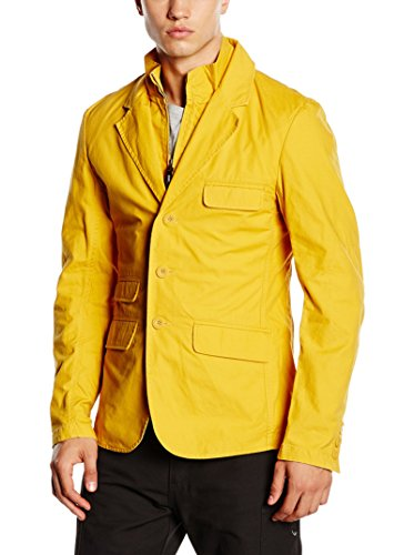 Tucano Urbano Cotton Lady – klassieke windstopper en waterafstotende blazer zeemansjas Large geel