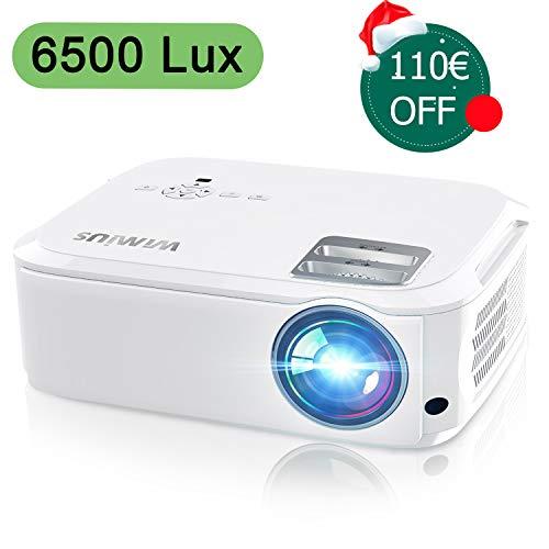 Vidéoprojecteur, WiMiUS 6500 Lumens Vidéo Projecteur...