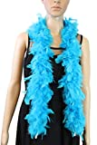 Over 10 Color 25 Gram, 4 Feet Long Chandelle Feather Boa, Kids Feather Boa, Great for Party, Wedding, Halloween Costume, Christmas Tree, Decoration (Turquoise)