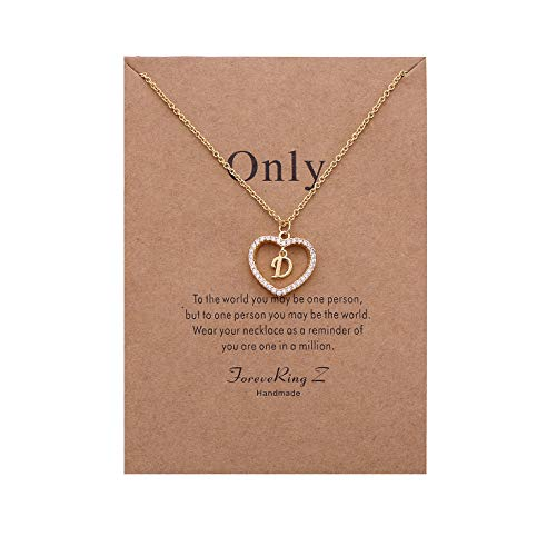 ForeveRing Z Letter Pendant Necklace A-Z Initial Necklace D Necklace Woman Jewelry
