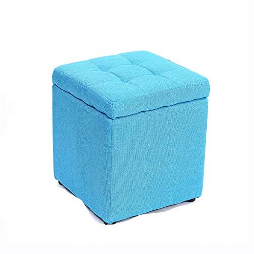 jinrun Taburete otomano Taburete de Almacenamiento Creativo Tejido otomano Salón de la Moda Sofá Taburete, el Color es diverso, el Almacenamiento es más Conveniente Reposapiés (Color : Blueb)