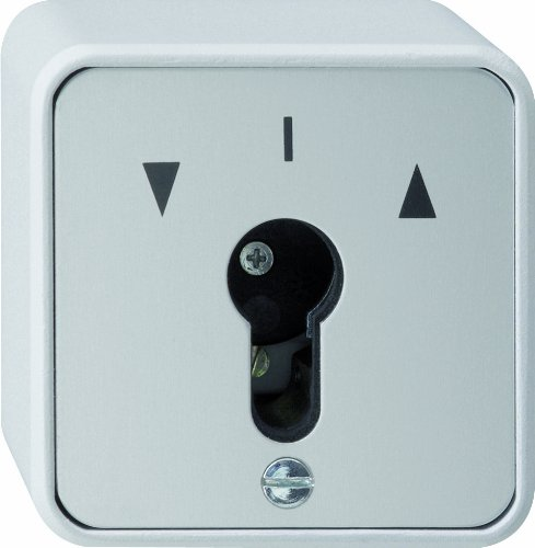 Gira 016330 sleutelknop wisselaar waterdicht opbouw, grijs