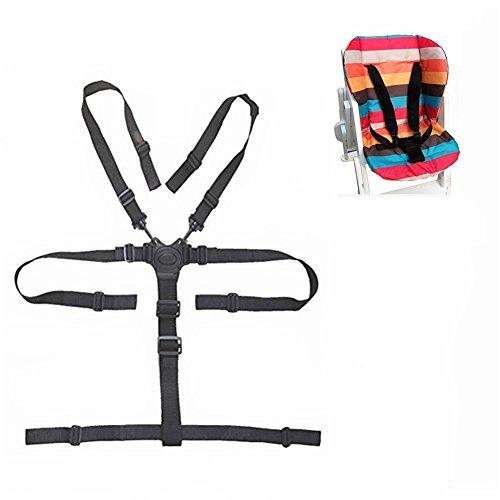 Amcho Arnés de 5 puntos para silla de bebé, cinturón de seguridad universal, cinturón de seguridad para silla alta de paseo de madera