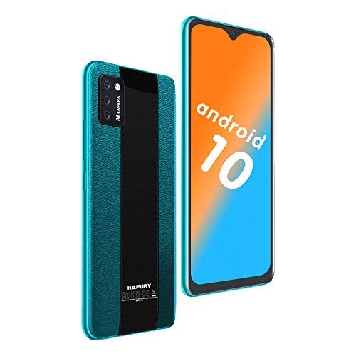 4G Smartphone ohne Vertrag, Günstige Android 10, 5,5 Zoll Wassertropfen Bildschirm, 2+16GB, 128 GB erweiterbar Dreifache Kameras, HAFURY Handy-Grün