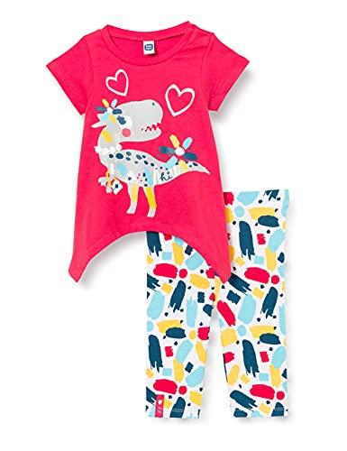 Tuc Tuc Camiseta Y Legging Pirata Punto Draw A Rex, Rojo, 18M Bebé-Niñas