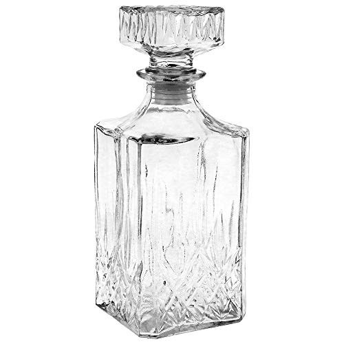 N / A Botella Vintage de Cristal Vidrio 900ml Tallado para Whisky...