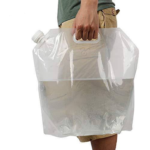 Sac d'eau pliable de 10L, sac de stockage d'eau Récipient d'eau pliable pour le camping en plein air