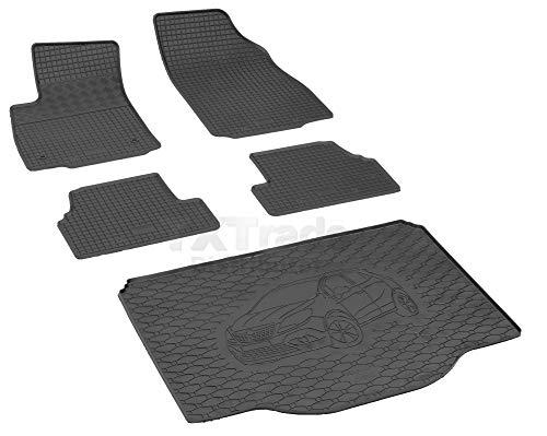 Passende Gummimatten und Kofferraumwanne Set geeignet für OPEL Mokka ab 2012 + Gurtschoner