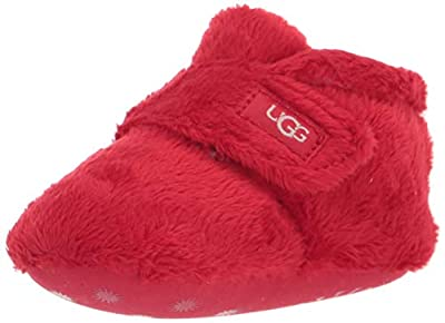 UGG baby girls Bixbee Ankle Boot, Ribbon Red, 0-1 Infant US