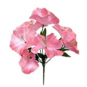 5 Hibiscus PINK Silk Wedding Flowers Bridal Bouquet Centerpieces Home Decor