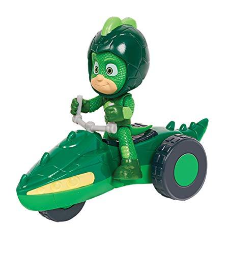 Simba  109402244 - PJ Masks Rover Gecko / mit Superhelden Action Figur / mit Spacehelm und Zubehör / grün / Figur 8cm groß, für Kinder ab 3 Jahren