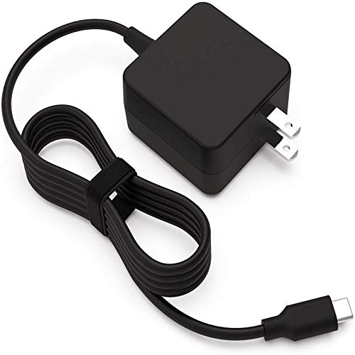 45W USB Type C AC Charger Fit for Lenovo School Chromebook C330 100e 300e 500e C340 S330 S340 Chromebook 2nd Gen AST MTK 4X20M26252 4X20E75131 ADLX45YCC3D ADLX45YLC3D Laptop Power Supply Cord