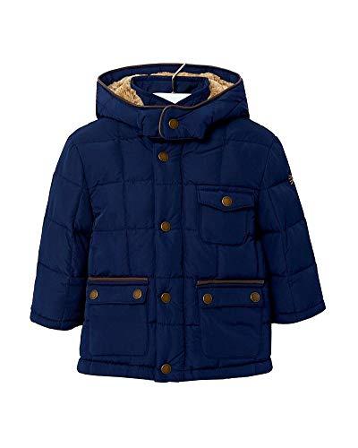 Mayoral Baby Jungen Winterjacke mit Kapuze Parka dunkelblau, Größe:68, Farbe:Marineblau