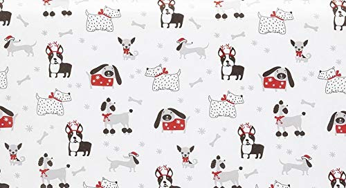 Gift WRAP Tissue Paper for Christmas, 20 Sheets, Large 20x30, Printed Decorative Tissue Paper (Whimsical Dog Breed Illustrations)